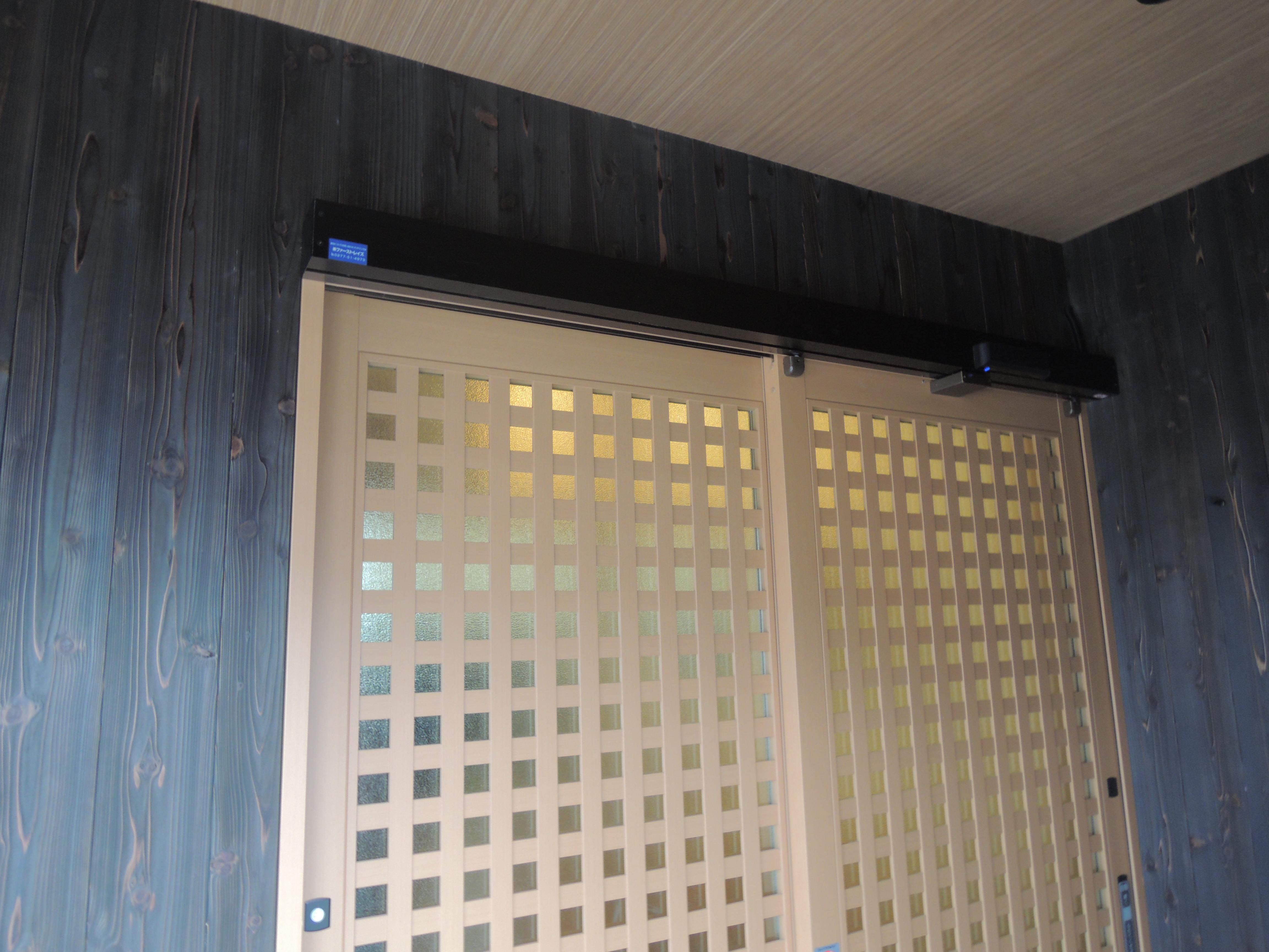 店舗の重い玄関引き戸を自動化FAS07