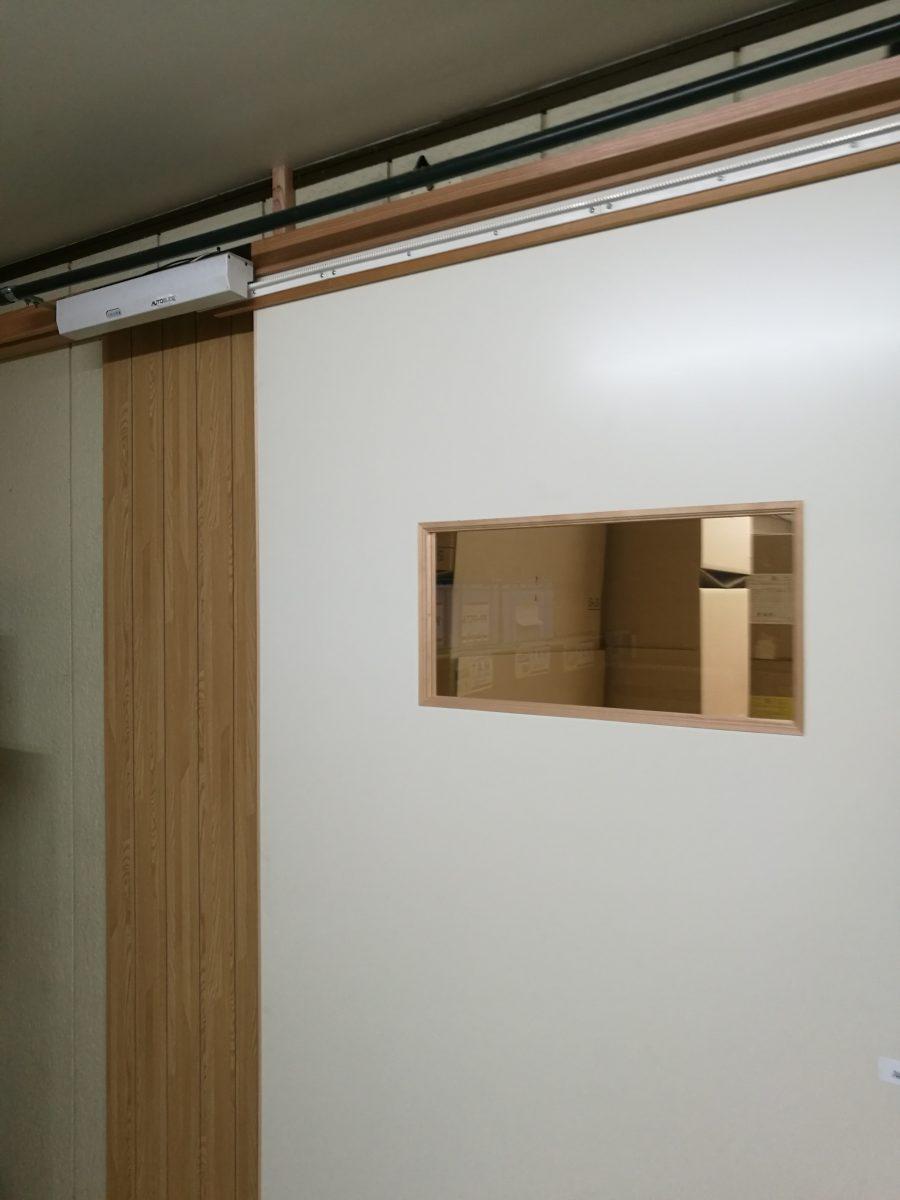 工場内ブース入退室ドアを自動化(群馬県)