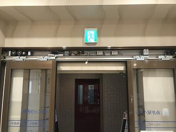 病院の後付け自動ドア