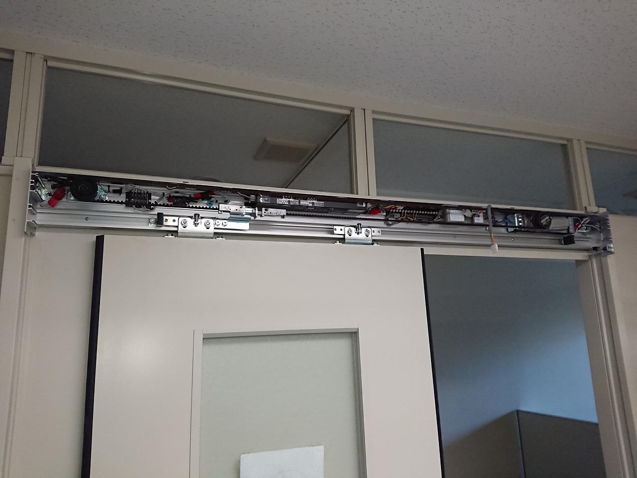 病院の診察室手動引き戸を自動ドアに|群馬【FAS07事例】